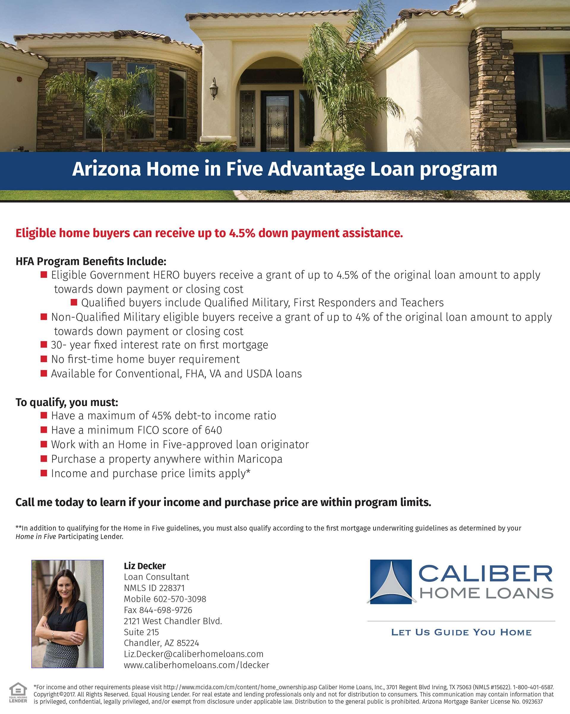 Arizona Home in Five Advantage Loan Program