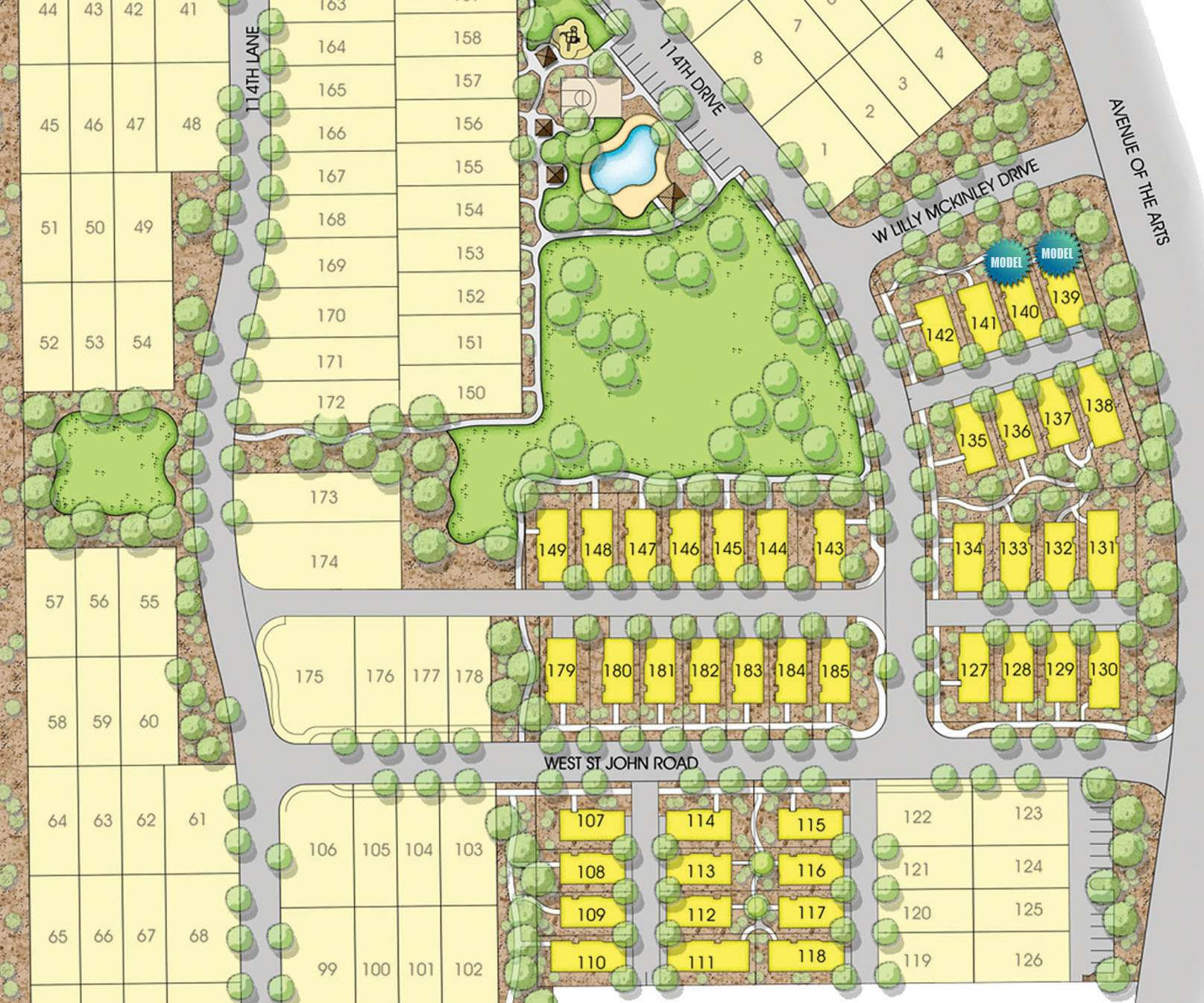 Village at Canyon Ridge West Plot Map