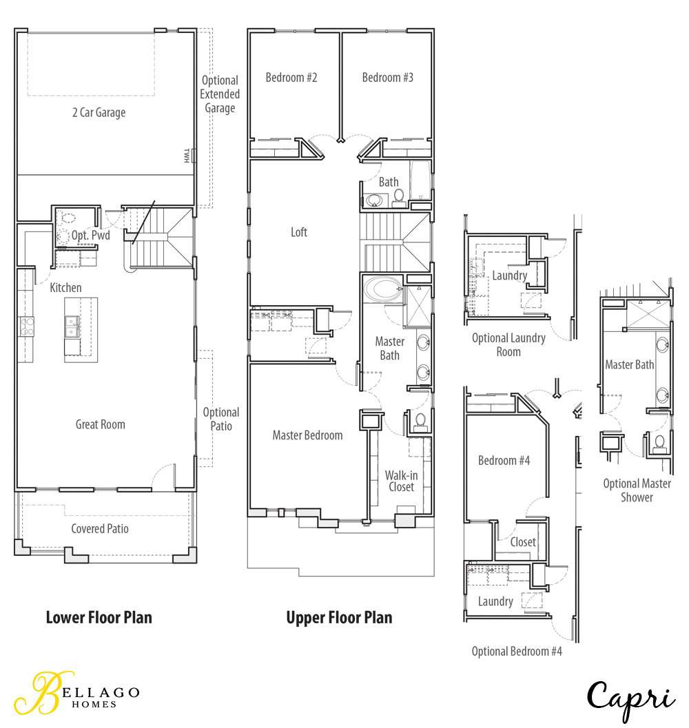 capri floor plan bellago homes