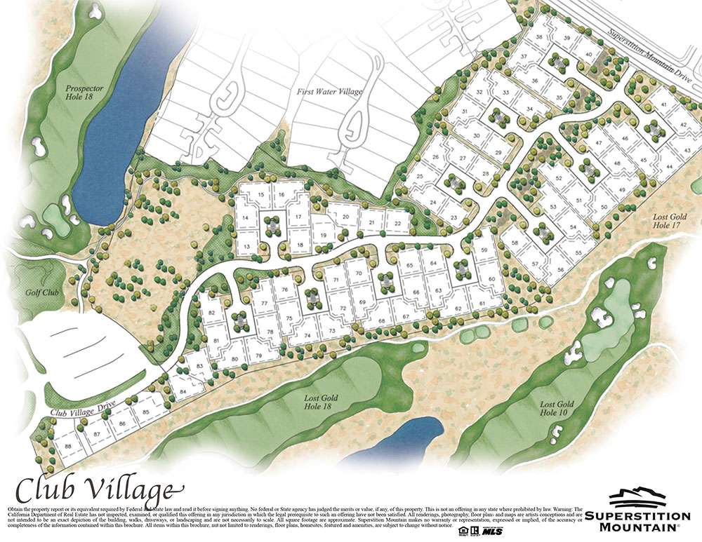 Club Village at Superstition Mountain Map